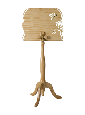 Music stand back